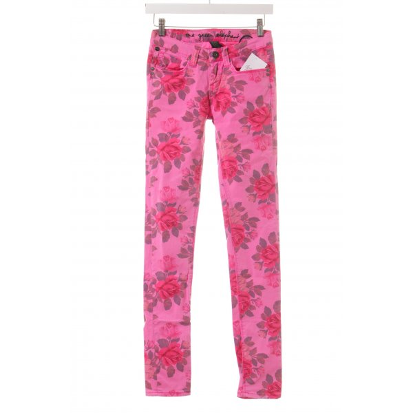 One green elephant Röhrenjeans florales Muster Casual-Look
