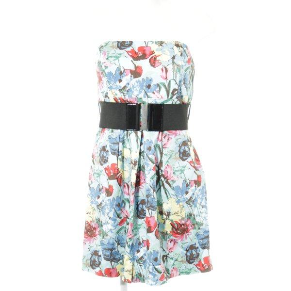One green elephant schulterfreies Kleid florales Muster Elegant