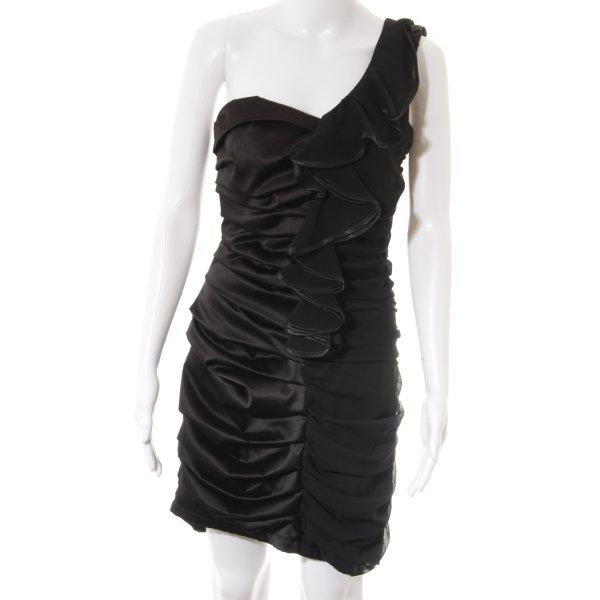 One-Shoulder-Kleid schwarz Party-Look