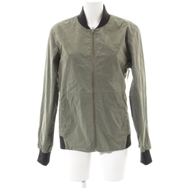 Onepiece Bomberjack zwart-groen-grijs straat-mode uitstraling