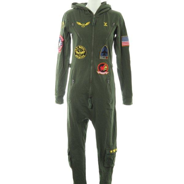 Onepiece Jumpsuit waldgrün College-Look