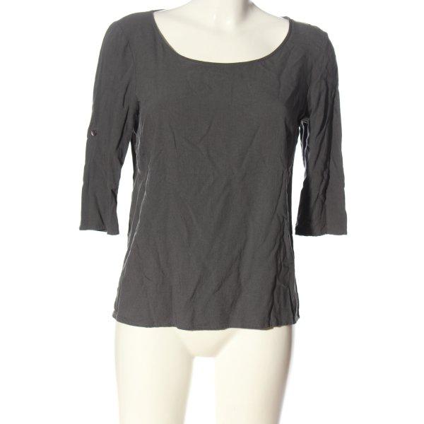 Only Basic-Shirt hellgrau Casual-Look