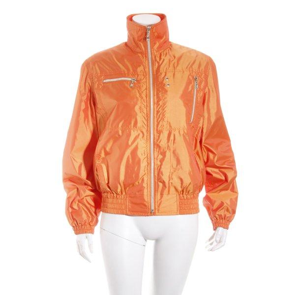 Only Blouson orange-silberfarben sportlicher Stil