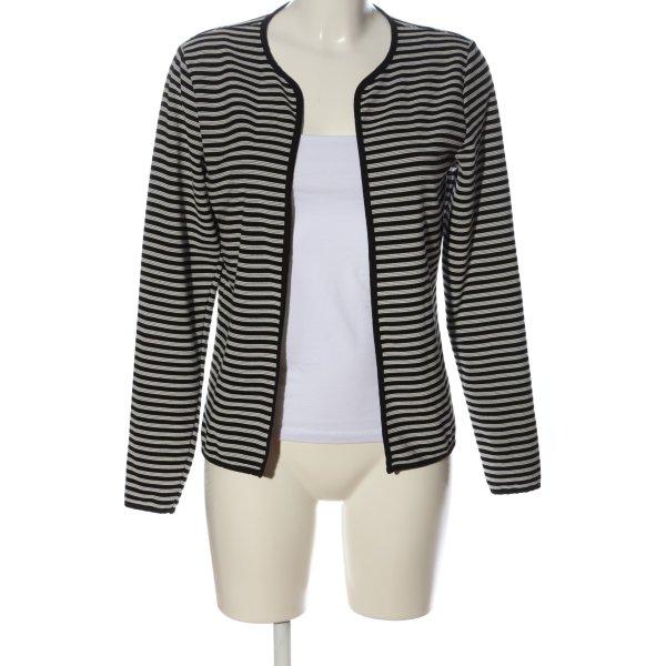 Only Cardigan schwarz-weiß Streifenmuster Casual-Look