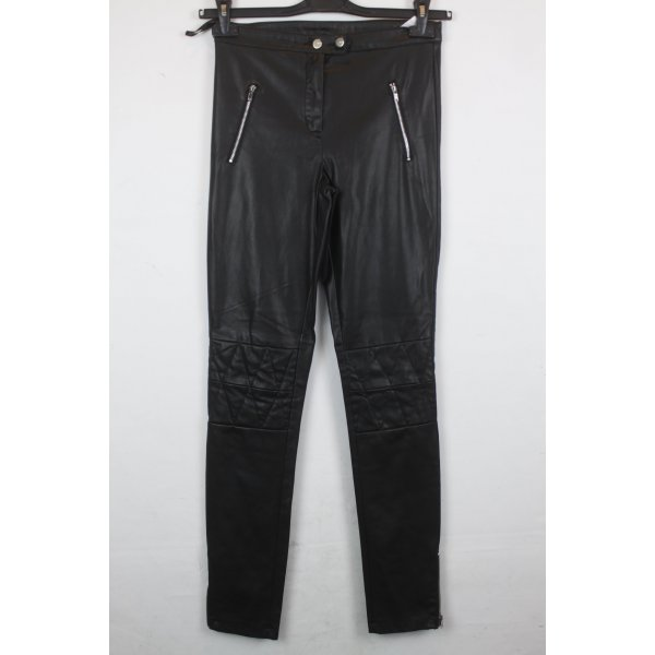 Only Jeggings black-silver-colored mixture fibre