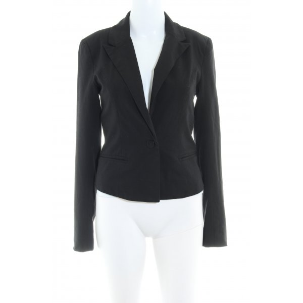 Only Kurz-Blazer schwarz Business-Look
