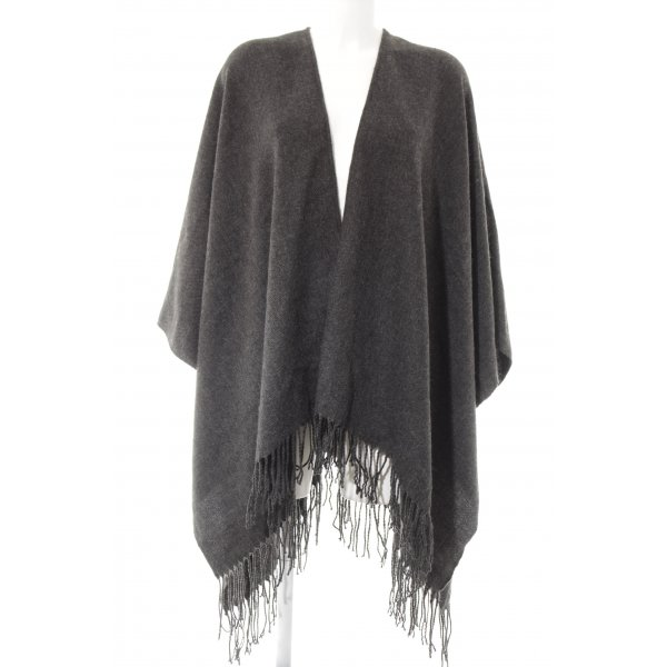 Only Poncho donkergrijs casual uitstraling
