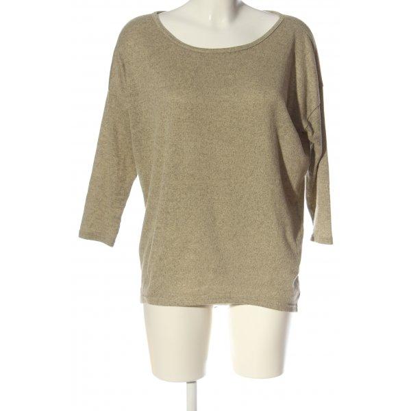 Only Rundhalspullover creme meliert Casual-Look