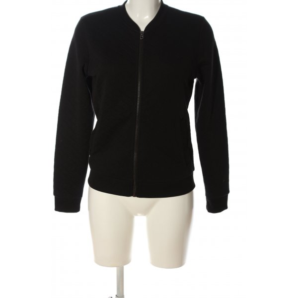 Only Sweatshirt schwarz Steppmuster Casual-Look