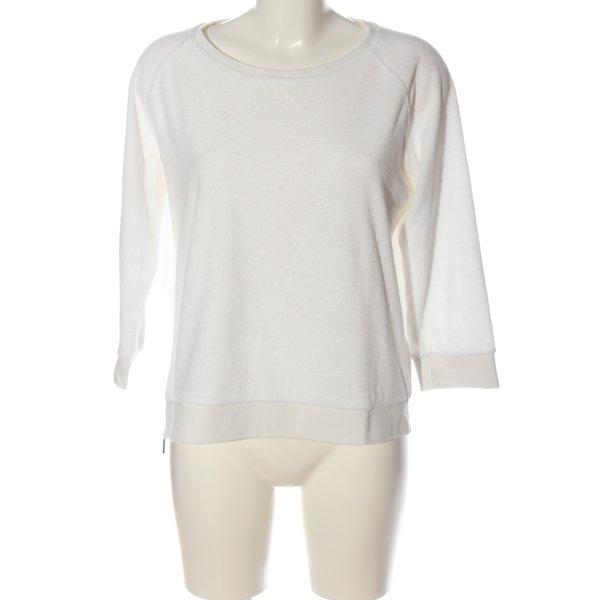 Opus Sweatshirt weiß Casual-Look