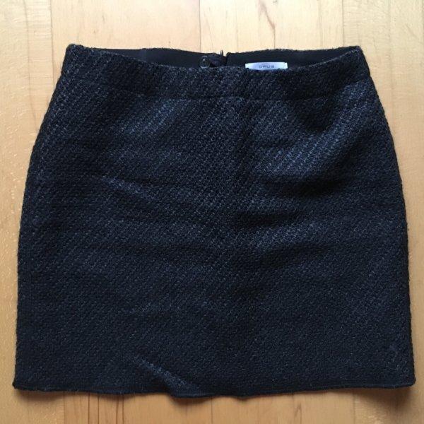 Opus Wollen rok antraciet-zwart