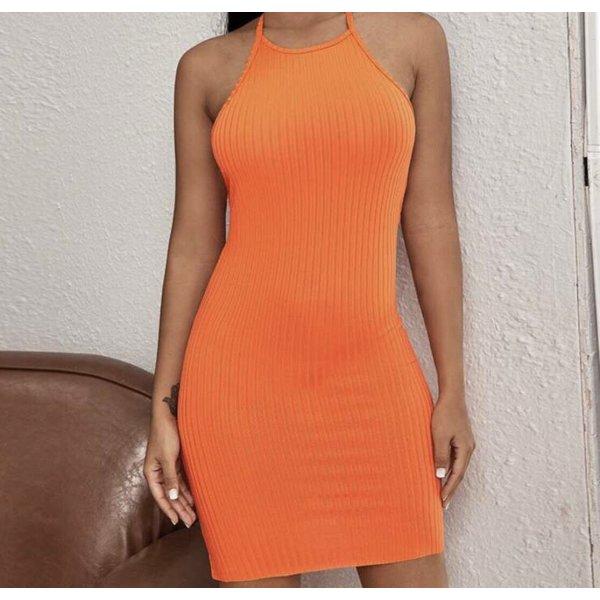 Oranges Kleid