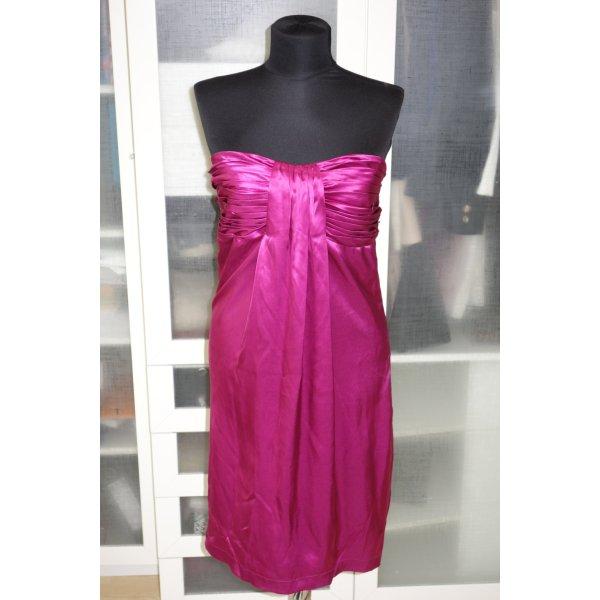 Org. BRIGITTE VON BOCH Bustierkleid aus Seide in magenta Gr.38