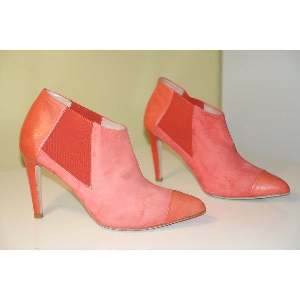 Org. BY MALENE BIRGER Ankle Boots/Stiefeletten in hellrot Gr.38