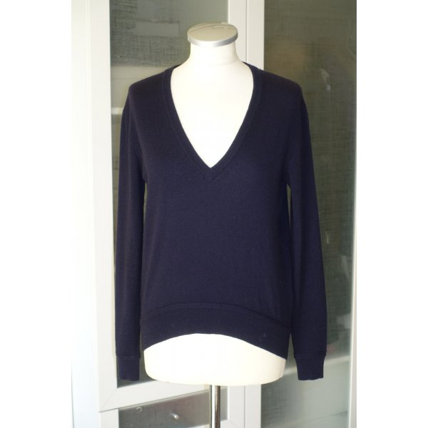 Org. CARVEN Pullover aus Wolle/Kaschmir in dunkelblau Gr.S