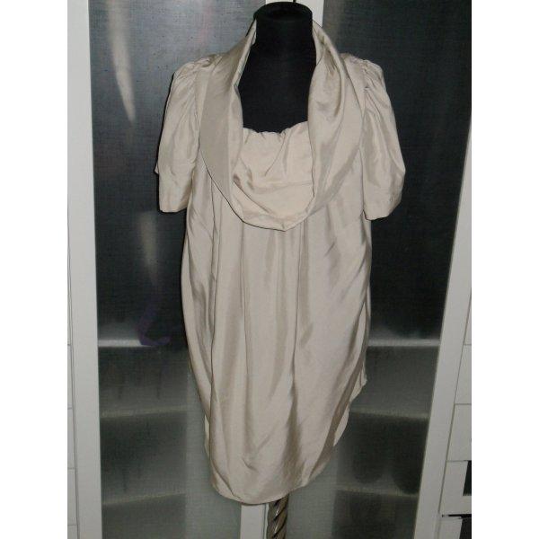Org. COSTUME NATIONAL Runway Seidenkleid beige NEU + Etikett