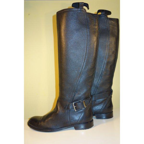 Dior Botas de equitación negro Cuero