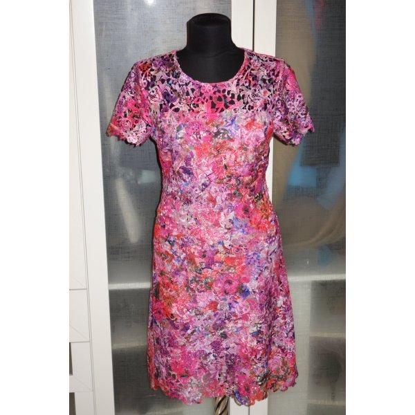 Org. ELIE TAHARI Kleid aus Spitze multicolour Gr.34