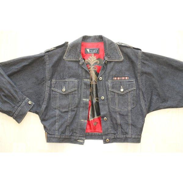 Org. LAUREL vintage oversized Jeansjacke mit Stickerei am Rücken Gr.38/40