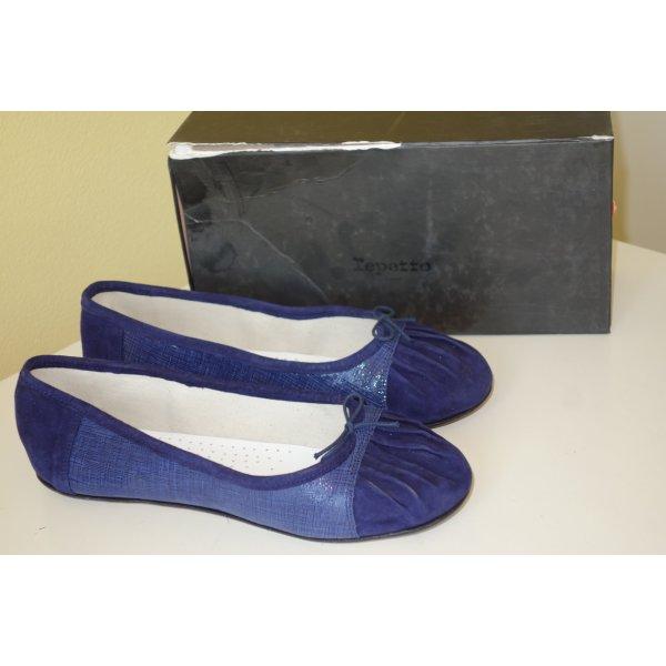 Org. REPETTO Ballerinas in dunkelblau aus Leder NEU+Karton Gr.41