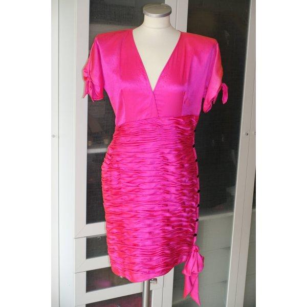 Org. UNGARO Paris vintage Kleid mit Drapierungen und Schleifen Gr.42