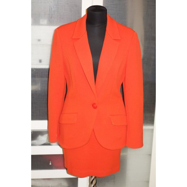 Org. VERSACE Jeans Couture Kostüm mit Medusa Details neon-orange Gr.38