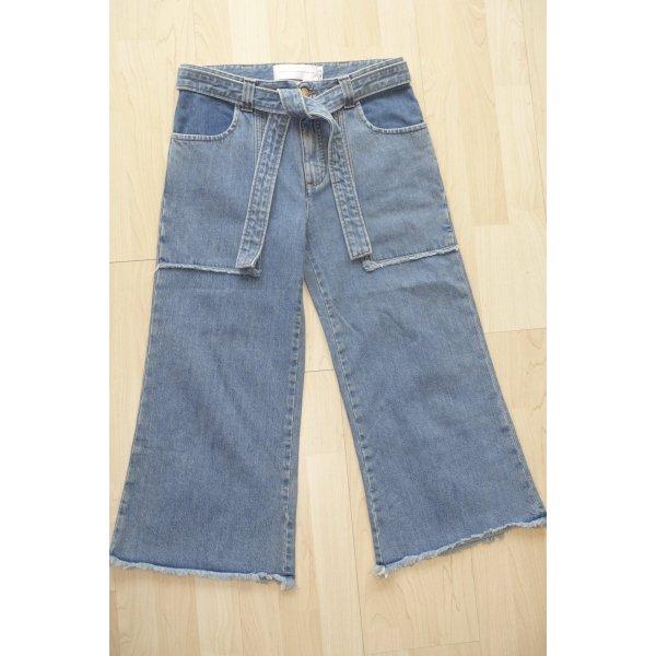 Org. VICTORIA VICTORIA BECKHAM Jeans Culotte mit Bindegürtel Gr.26 Neu+Etikett