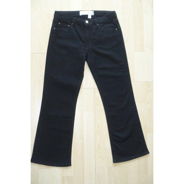 Org. VICTORIA VICTORIA BECKHAM straight leg Jeans in schwarz Gr.25 Neu+Etikett