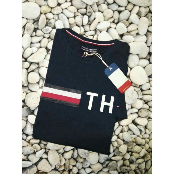 Orginal Tommy Hilfiger  Herren T-Shirt & Etikett, Blau , Gr.Xl