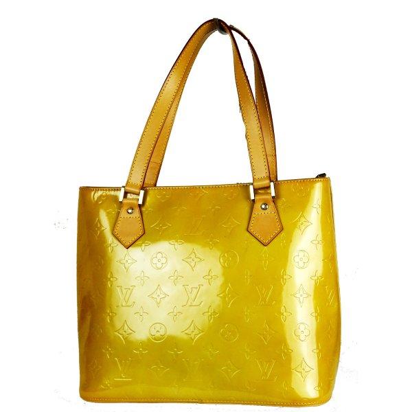 ORIG. LOUIS VUITTON HOUSTON VERNIS LACK-LEDER Handtasche handbag / GUTER ZUSTAND
