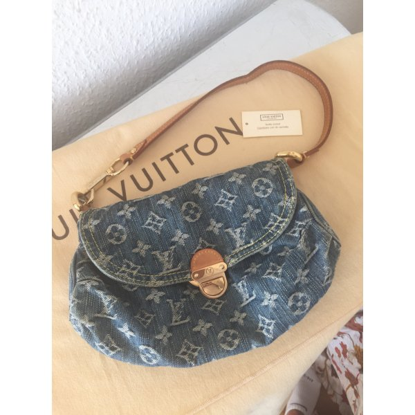 orig louis vuitton pochette lv denim jeans tasche limitiert wneu monogram. Black Bedroom Furniture Sets. Home Design Ideas