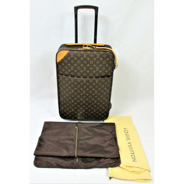 Louis Vuitton Trolley veelkleurig Leer