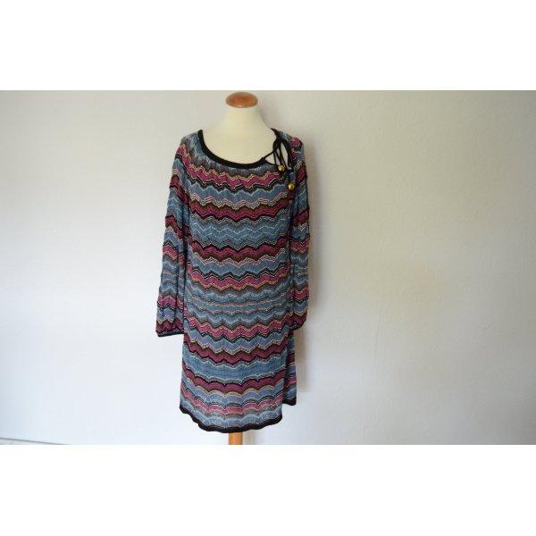 Orig. MISSONI Strickkleid IT 44 D 36 (fällt klein aus)Traum Farben Strick Kleid