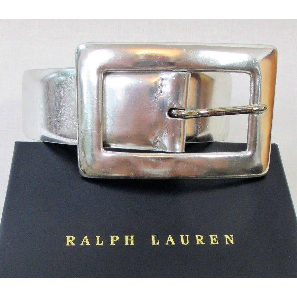 "Orig.Ralph Lauren ""Collection"" Ledergürtel/Metallic/Silber/100% Leder/Gr.M/TOP ZUSTAND!"