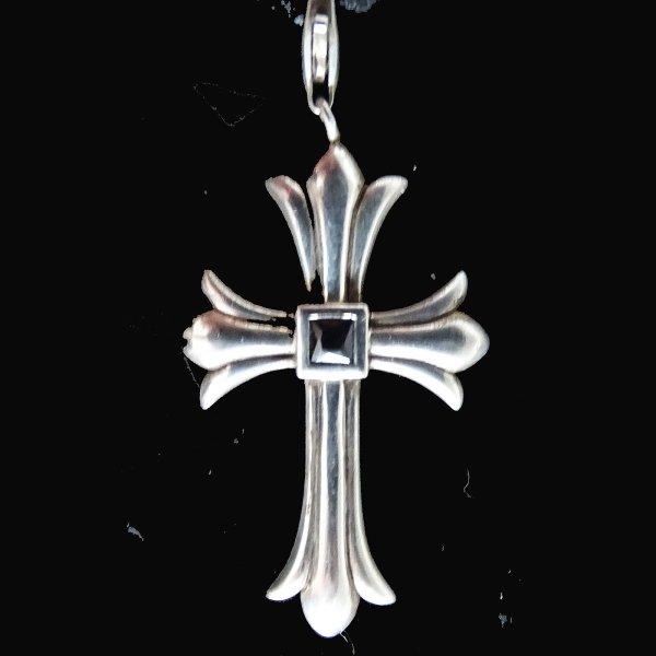 ORIG Thomas Sabo Kreuz 925 Sllber mit Kette Halskette Blauer Stein / Sehr Guter Zustand