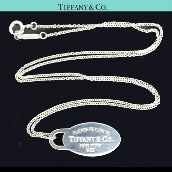 ORIG. TIFFANY & Co. RETURN TO TIFFANY HALS-KETTE mit ANHÄNGER 925 Silber chain