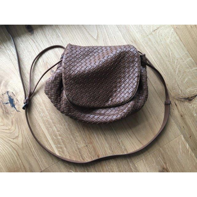 Original BOTTEGA VENETA Crossbody Tasche, braun