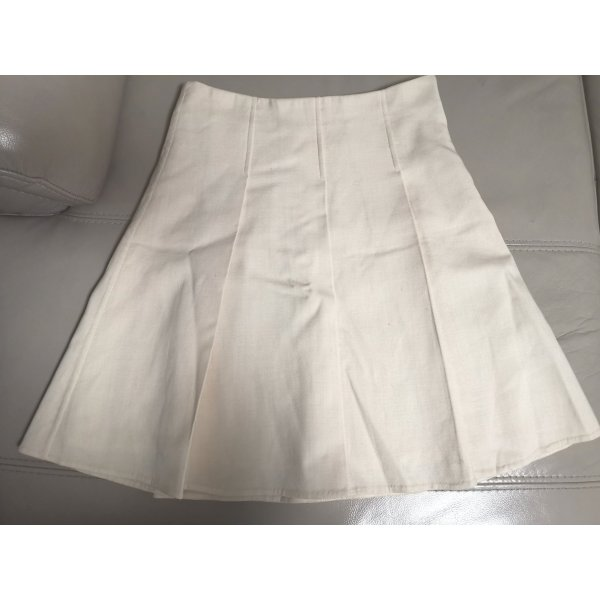Original Burberry Rock Knielang Gr 36 S Creme 98% Wolle