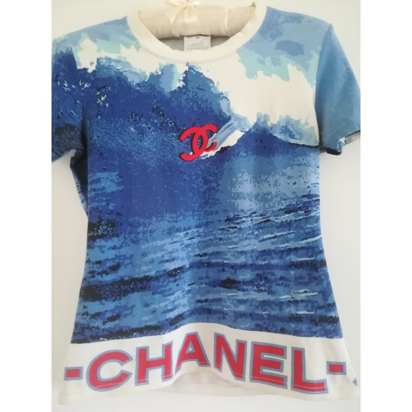 Original CHANEL SHIRT, Vintage, Kollektion 2002, Baumwolle, Gr. 40 (38)
