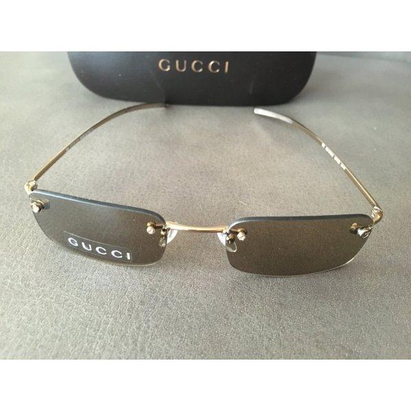 Original GUCCI Sonnenbrille randlos Gold NEU
