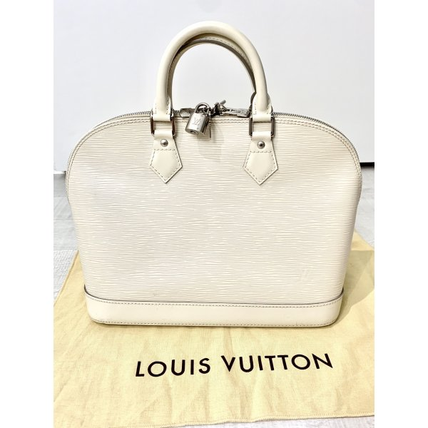 Original Louis Vuitton Alma Epi Leder cremeweiss