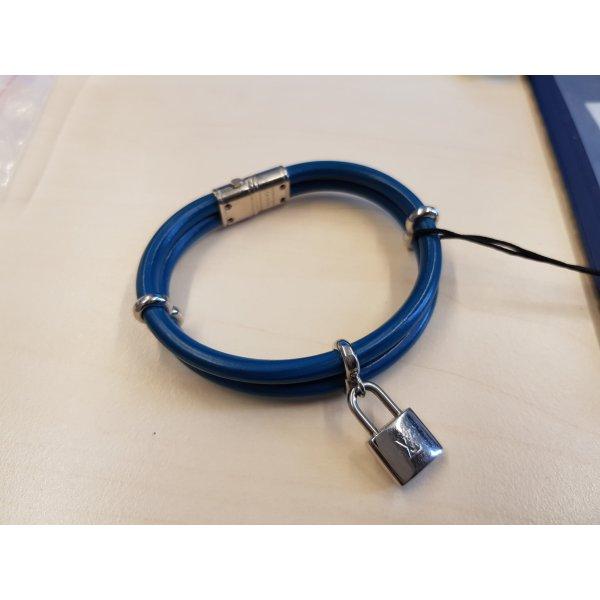 Original Louis Vuitton Armband Keep it twice blau silber & Zertifikat