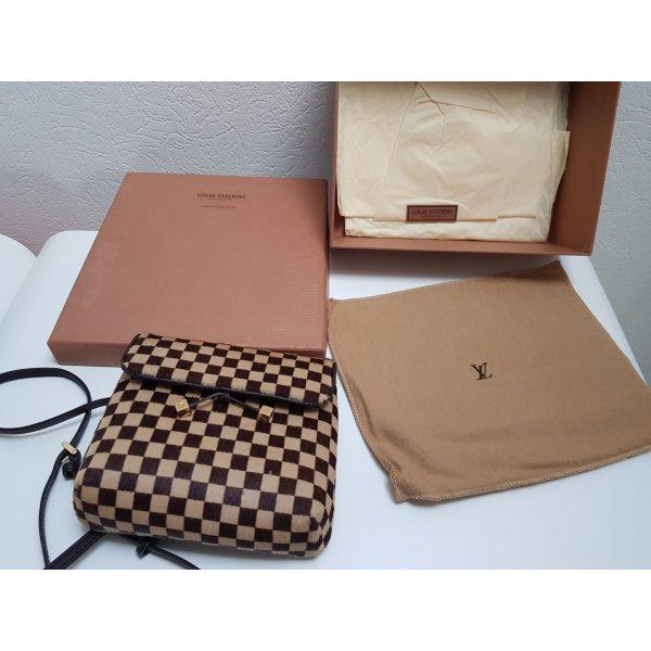 Original Louis Vuitton Gazelle Damier Sauvage Leder/Pelz crossover Tasche bag