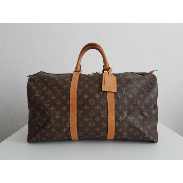 Louis Vuitton Reistas bruin-goud Linnen