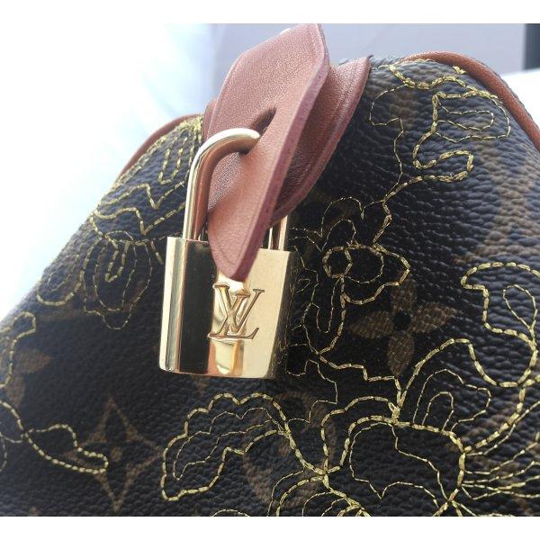 Original Louis Vuitton Schloss mit 2 Schlüsseln No. 313 Metall Messing