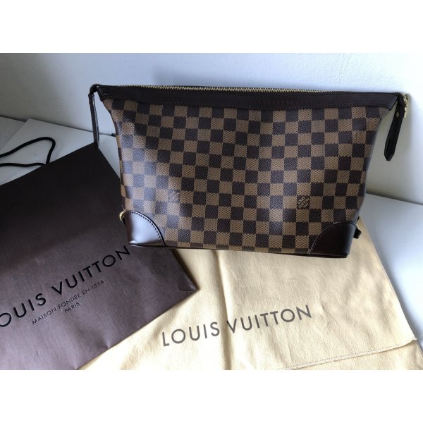 Louis Vuitton Sac brun noir-cognac