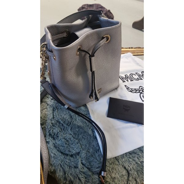 Original MCM Rosalind Bucket Bag in silber wie neu