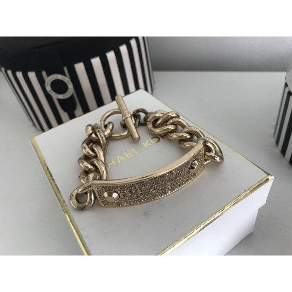 Original Michael Kors Armband Gold Strass