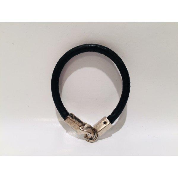 Original YSL Yves Saint Laurent Leder-Armband mit Logo-Schließe