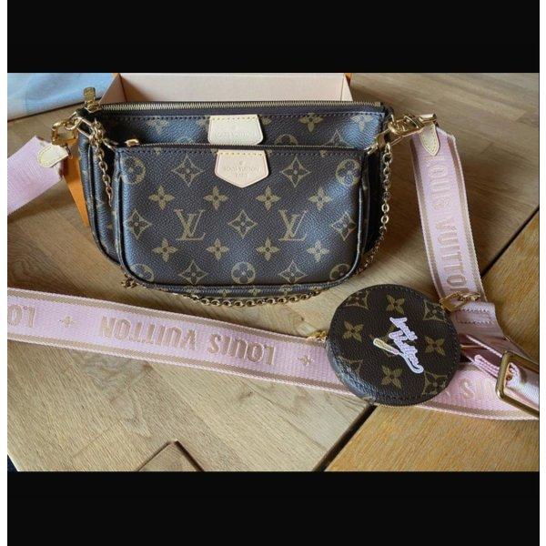 Originalverpackt- Louis Vuitton Multi Pochette Rose Clair (mit Rechnung)